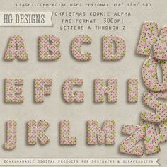 Free alphabet clipart for commercial or personal use --  Christmas Cookie by cesstrelle.deviantart.com on @deviantART