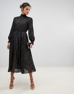 Ted Baker Elsiie midi dress with metallic stars