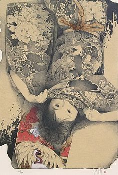 windypoplarsroom:Kyosuke Chinai #kyosuke chinai #girl #pattern #drapery