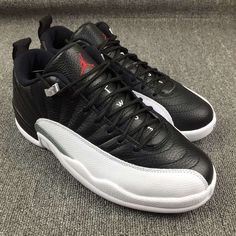 Detailed Images Of The Air Jordan 12 Low Playoff