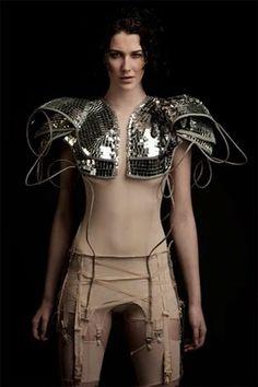 Disco armor by Rachel Freire
