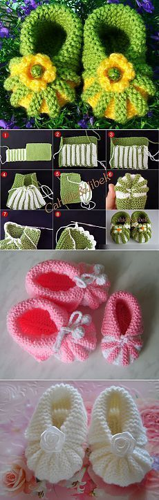 Baby Knitting Patterns Booties Smart booties knitted but I think I can convert to crochet easily Baby Knitting Patterns, Loom Knitting, Knitting Socks, Baby Patterns, Crochet Patterns, Knitted Booties, Crochet Baby Booties, Crochet Shoes, Crochet Slippers