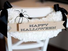 Turn coffee filters into fun Halloween chair decorations! >> http://www.diynetwork.com/decorating/halloween-chair-decoration/pictures/index.html?soc=pinterest