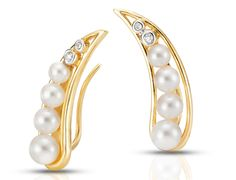 Mastoloni Pearls Emily ear climbers #jewelrytrends #brittspick #pearlearrings