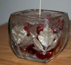 Clear gel wax DIY Christmas candle, via Flickr. $5 to make Christmas Candles, Diy Christmas, Gel Candles, Wax Tarts, Candle Making, Shot Glass, Diys, Craft Ideas, Diy Crafts