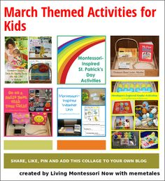 March Themed Activities for Kids - LOTS of calendar-based activities for home or classroom