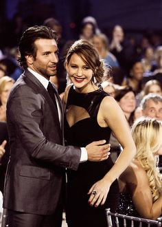 Bradley Cooper and Jennifer Lawrence... Too much hotness in one picture. Seriously, I'd love to look like her.
