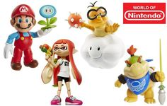 "Jakks Pacific's World of Nintendo lineup - another look at the latest round of figs   Check out more pics of the lineup here  - 4"" line has an MSRP of $9 - sale until 4/15 for 20% off all World of Nintendo stuff at Toys R Us. - prices dropped on the 4"" line and 2.5"" line to $10 and $5 from $13 and $7 respectively - Inkling Boy Yoshi recolor (Blue) third Samus in her Phazon Suit Wind Waker Link with the Wind Waker and Mario with open hands instead of closed - new Inkling Girl - new Lakaitu…"