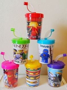 Ninjago Personalized Birthday Party Favor Treat Cups, Ninja Party Favors ~ 6ct
