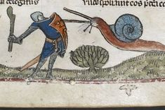 Medieval paintings suggest that snails used to be as big as people