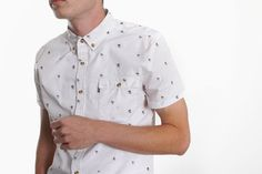 Men's Rico Flamingo S/S Shirt (White)