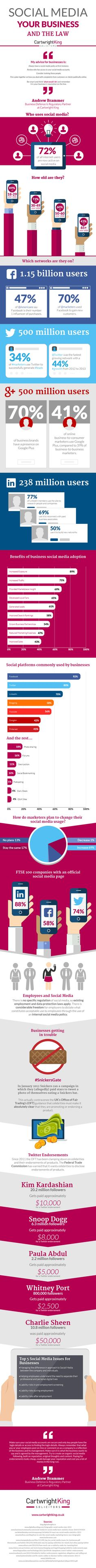 Law and #SocialMedia: What #Businesses Should Know - #infographic