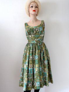 1950s cotton sundress