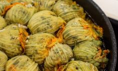 kolokithoanthoi me rizi ston furno Greek Recipes, Veggie Recipes, Cooking Recipes, Healthy Recipes, Greek Appetizers, Vegetarian Appetizers, Diy Food, Love Food, Easy Meals