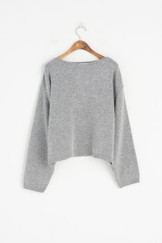 Lip Neck Spring Jumper, Grey