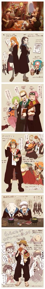 One piece x Harry Potter