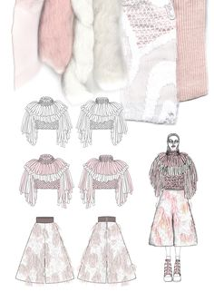 Fashion Sketchbook - fashion illustrations & textile samples; fashion portfolio // Giryung Kim