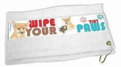 Corgi Paw Wipe Towel * To view further for this item, visit the image link.