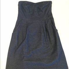 Urban Outfitters Dress Strapless chambray design dress with bustier and pockets! In good condition and very easy to wear and wash!  I accept offers through the feature, no trades, and I am happy to bundle  Urban Outfitters Dresses Mini