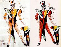 Bob Mackie costume sketchs for Elton John