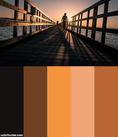 Sunrise Walking - Lignano, Italy - Color Street Photography Color Scheme from colorhunter.com