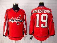 68efcf4f2 Capitals  19 Nicklas Backstrom Embroidered Red NHL Jersey