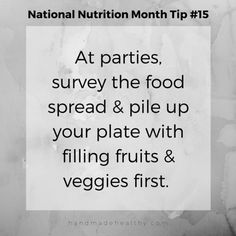 National Nutrition Month Tip #15
