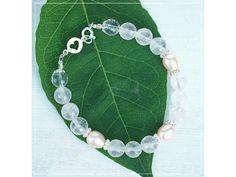 Náramek s perlami, KŘIŠŤÁLem & RŮŽENÍNem Summer Bracelets, Linux, Names, Green, Jewelry, Jewlery, Jewerly, Schmuck, Jewels