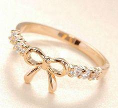 Simple Diamond Bow Ring ~ <3