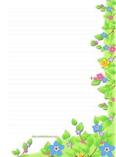 free stationary(stationery), free floral stationary with colorful spring florals Free Printable Stationery, Stationery Templates, Printable Paper, Free Printables, Paper Journal, Journal Cards, Border Templates, Templates Free, Background Templates