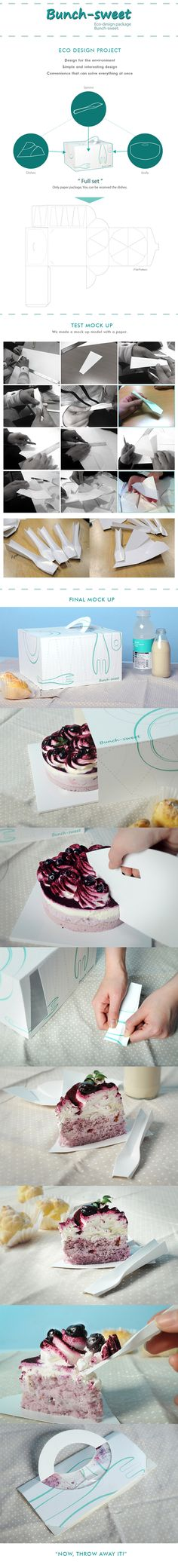 Bunch-Sweet, All In One Cake Package. by JK-shay Ryu, via Behance