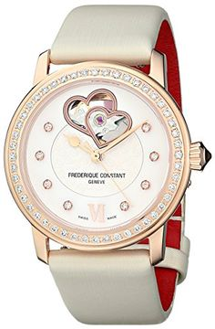 Frederique Constant Womens FC310WHF2PD4 Double Heart Analog Display Swiss Automatic White Watch >>> Check out the image by visiting the link. (Note:Amazon affiliate link)