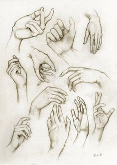 I love this piece of art as it shows the variation of hands that have been sketched. The effect of this in the format of a sketch book is that you can experiment in lots of different ways on one page to show the reader or the observer how many different techniques have been used to achieve the final piece.