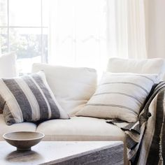 The Ana Mira Linen Cushion Cover is made from heavyweight linen and is finished with a zipper closure. Durable heavyweight linen and timeless design. Cushion Inserts, Timeless Design, Cushions, Lounge, Colours, Throw Pillows, Pure Products, Living Room, Bedroom