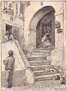 Rua dos Corvos Portugal velha   drawing