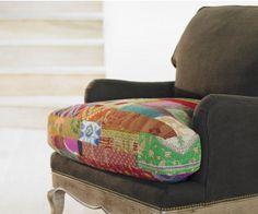 Vintage Kantha Upholstered Chair #chair #seating #home