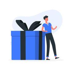 Gift by Freepik Stories box Website Illustration, Flat Illustration, Illustrations, Cool Suits, Color Change, Wifi, Mattress, Appreciation, Highlights