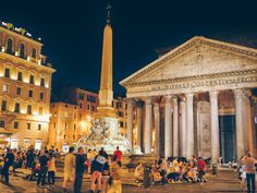 Rome's monuments are fascinating by day and even more stunning when they're lit up at night.