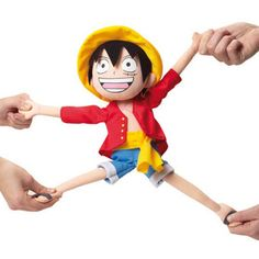 Have Luffy's Devil Fruit powers come to life in your hands as you pull, twist and stretch his limbs from their original size. This ridiculously silly One Piece plush makes fun way to relieve stress after even the worst of days. #onepiece #anime #luffy