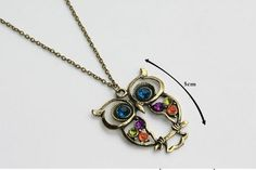 European Retro Fashion Exquisite Owl Necklace FREE SHIPPING with GIN!