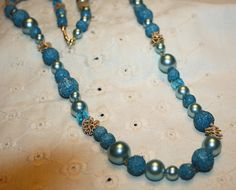 Long Vintage Necklace 29111 by bellendesigns on Etsy, $8.75
