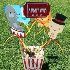 Circus Centerpiece Cutouts by SistersBCDesigns on Etsy, $15.00