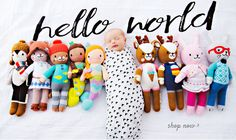 Ethically produced, hand-knit dolls that help feed children in need. Each doll…