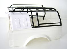 Beach - Roof Rack Hilux Tamiya for small Hard-top, long RF Truck Accesories, Pickup Truck Accessories, Car Accessories, Toyota Trucks, Ford Trucks, Pickup Trucks, Truck Roof Rack, Truck Storage, Vw T3 Doka