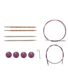 Knit Picks TRY IT Needle Set Rainbow Wood and Nickel Plated Tips Sizes US 6 and 7 -- Continue to the product at the image link.Note:It is affiliate link to Amazon.