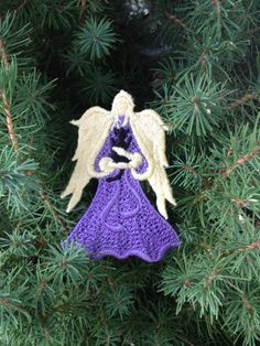 Lace Bookmark Angel of Light with a Fur Baby by AliDianneCreations, $5.00