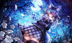 Anime Wolf Girl, Anime Girl Neko, Anime Girl Cute, Chica Anime Manga, Anime Art Girl, Neko Ears, Kemono Friends, Friend Anime, Fan Art