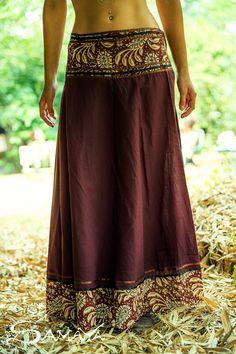 Wrap jupe longue, jupe gitane, jupe tribale, Gypsy vêtements, vêtements Funky, Hippie, fée, Bohème, jupe de danse, jupe en coton, unique taille