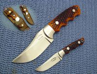 Custom made hunting knives for sale #10- Stag skinner SET