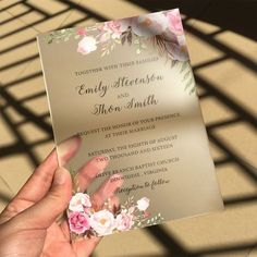Customized 50pcs per Lot Rustic Watercolor Style 5x7inch Frosted Acrylic Wedding Invitation Cards Ship to Australia Only-in Cards & Invitations from Home & Garden on Aliexpress.com | Alibaba Group